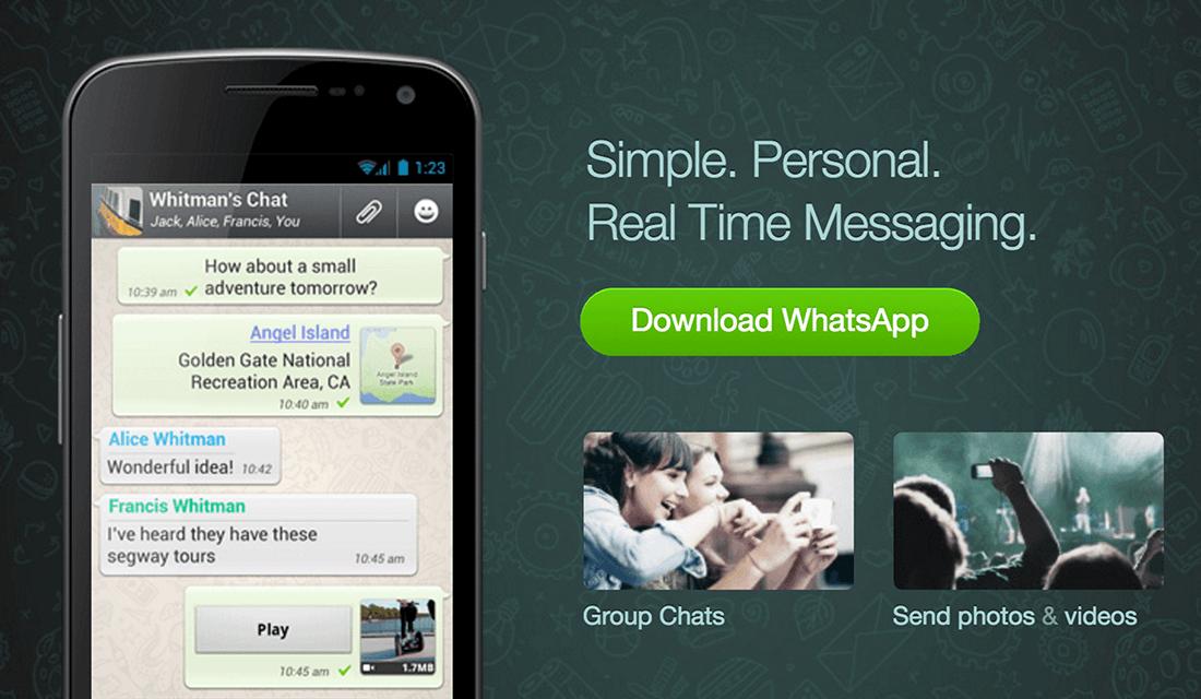 WhatsApp (Source: WhatsApp)