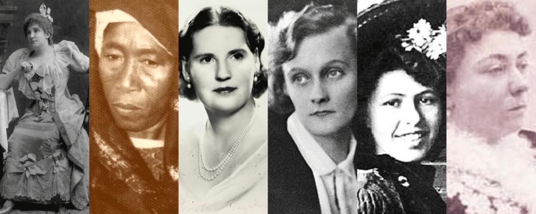Nellie Melba, Ladi Kwali, Kirsten Flagstad, Astrid Lindgren, Sophie Taeuber-Arp, Fatma Aliye Topuz (Source: Various)