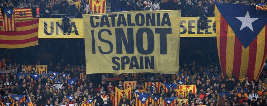 Sign supporting Catalan independence during El Clásico (Source: Sigma Live)