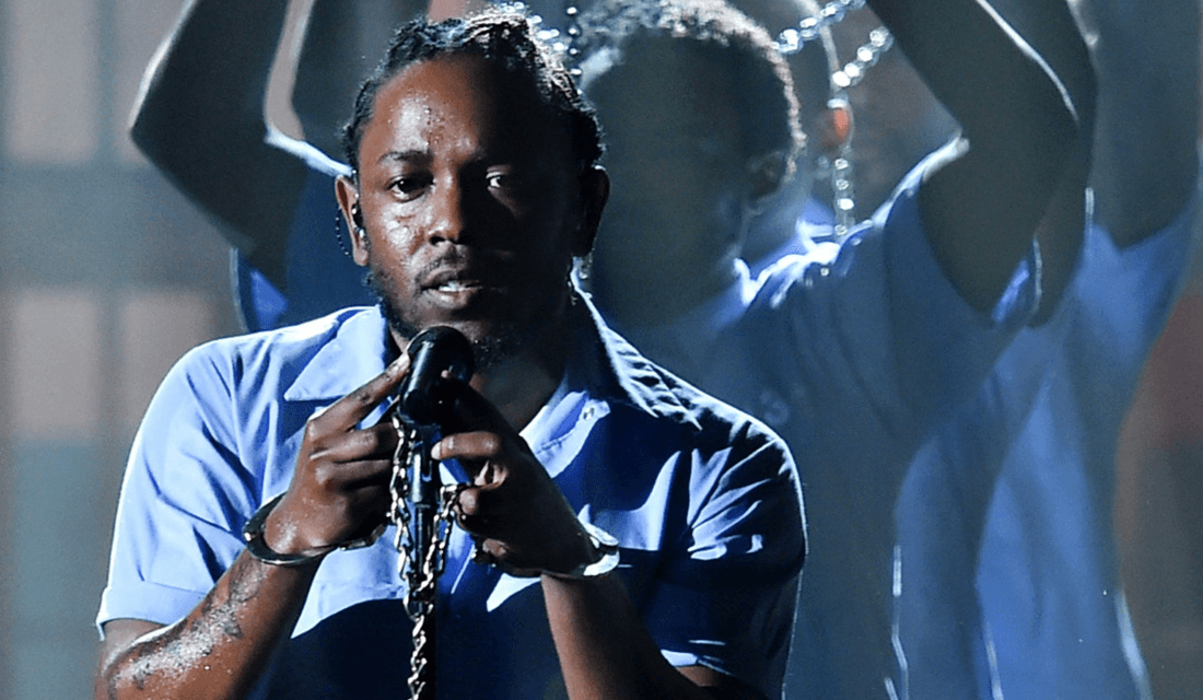 Kendrick Lamar's iconic 2016 Grammy performance (Source: Vulture)