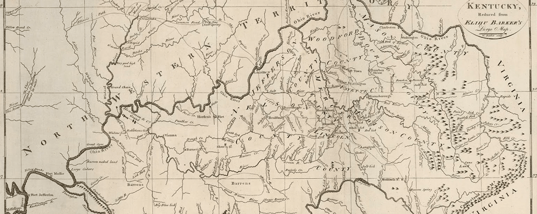 1792 Map of Kentucky (Source: Antique Prints Blog)
