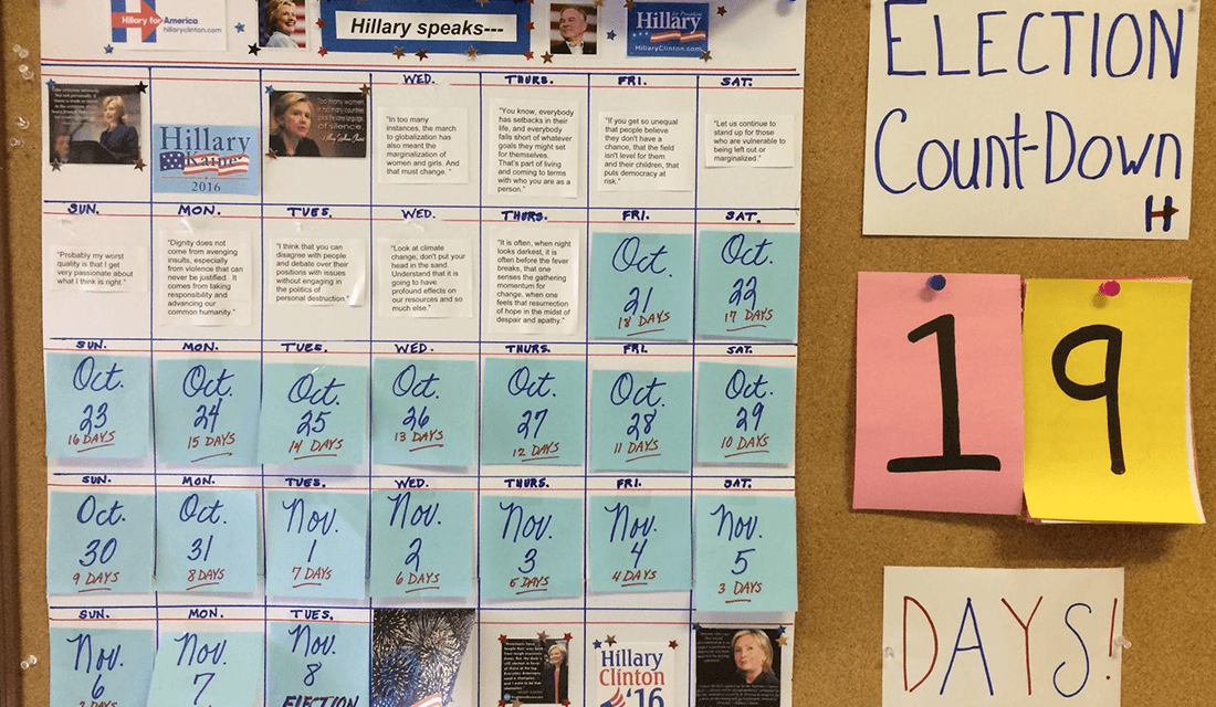 Election Countdown (Source: Jennifer Friedmann)