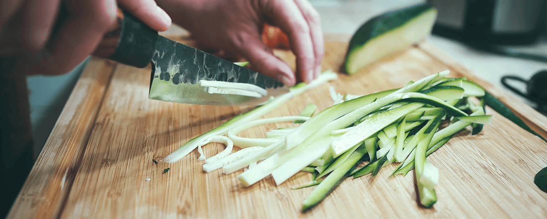 Chopping Cucumber