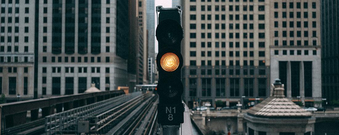 Light on Train Tracks
