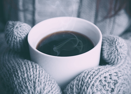 Coffee Wrapped in Mittens