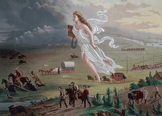"""American Progress"" (1872) by John Gast (Source: Wikipedia)"
