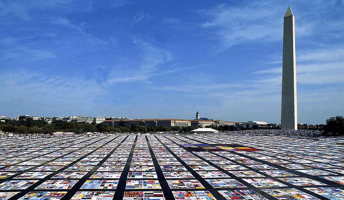 AIDS Memorial Quilt (Source: National Institute of Health/Wikimedia Commons)
