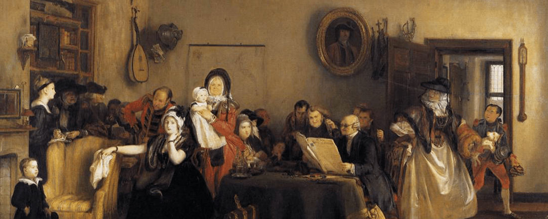 """Reading the Will,"" 1820 by David Wilkie (Source: Wikimedia Commons)"