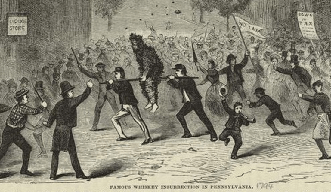 1880 illustration depicting the Whiskey Rebellion (Source: New York Public Library/Wikimedia Commons)
