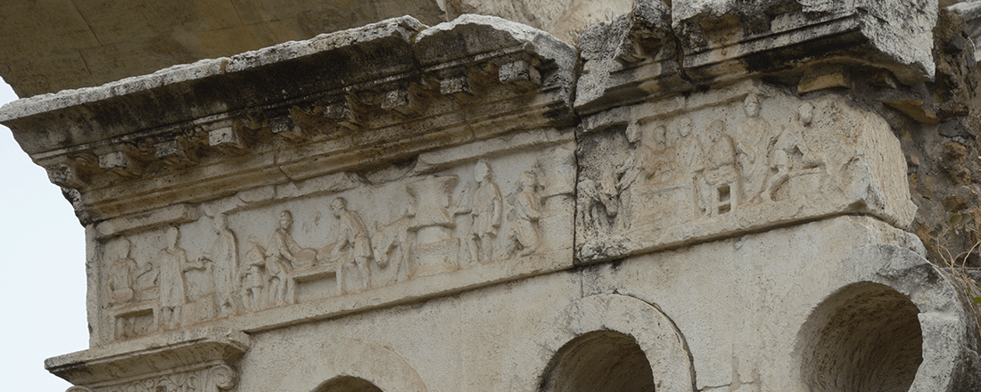 Bakery relief on the frieze of the Tomb of Eurysaces the Baker (Source: Livioandronico2013/Wikimedia Commons)