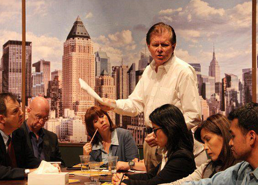 """2012 production of """"Twelve Angry Men"""" (Source: Jakarta Players)"""