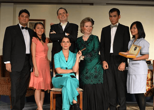 """Cast of Jakarta Players' 2013 production of """"An Inspector Calls"""" (Source: Jakarta Players)"""