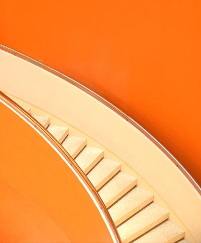 Orange Stairs Wall