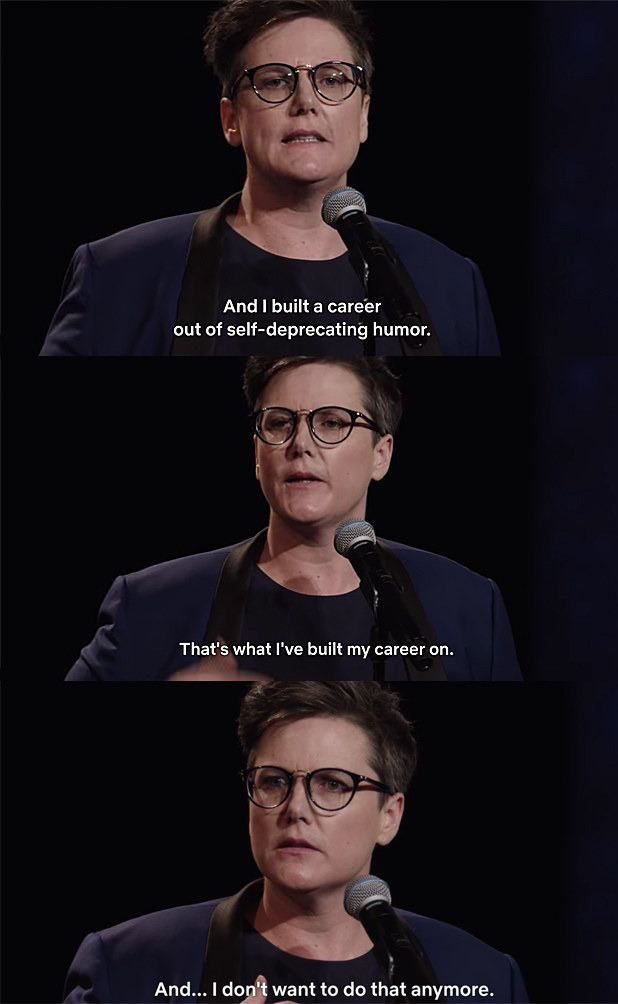 "Hannah Gadsby in ""Nanette"" (Source: Buzzfeed/Tumblr)"