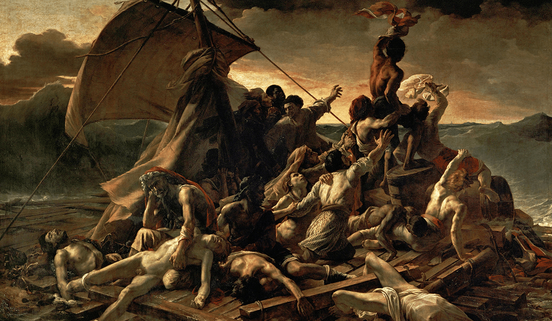 "The 1818-19 painting ""The Raft of the Medusa"" by Théodore Géricault (Source: Wikipedia)"