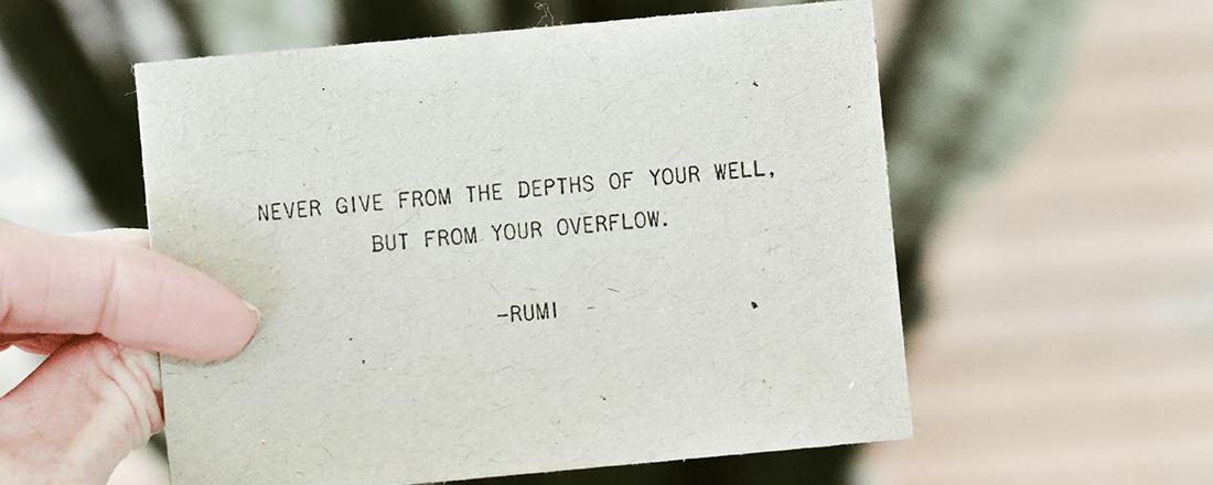 Rumi Poem on Card