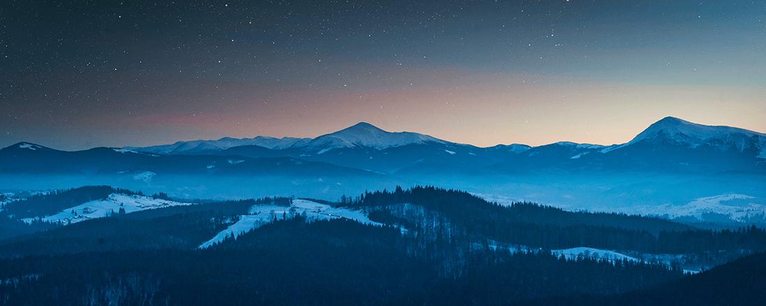 Mountains Blue Light