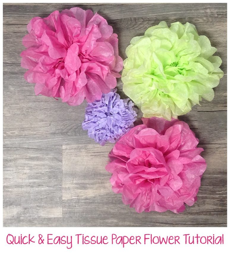 Quick Easy Tissue Paper Flower Tutorial Six Clever Sisters
