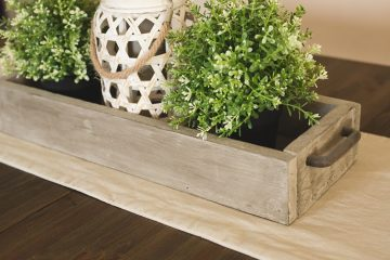 Rustic Wood | DIY Trough | DIY centerpiece | wooden trough | Easy instructions for this Rustic Wooden Trough Centerpiece can be found on the Six Clever Sisters blog!
