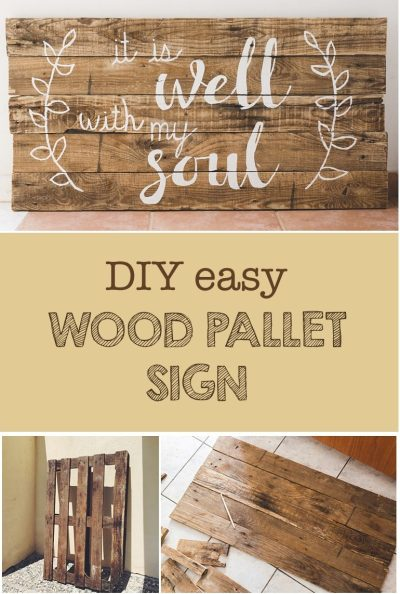 DIY Wood Pallet Sign