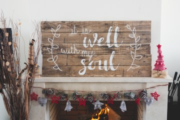 "DIY Pallet Sign ""It Is Well"""