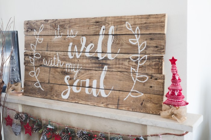 """DIY Pallet Sign """"It Is Well"""""""