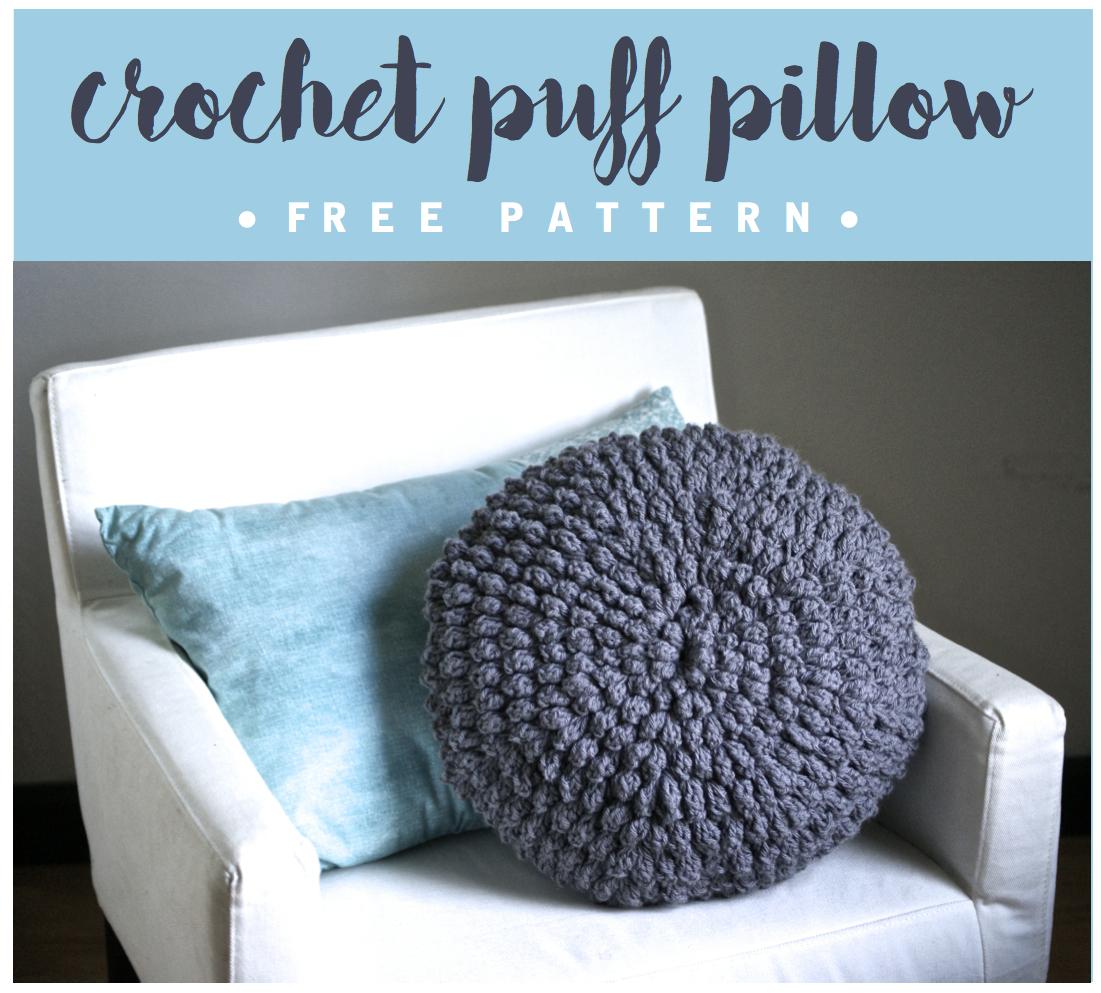 Diy crochet circle puff pillow pattern six clever sisters crochet puff pillow free pattern bankloansurffo Gallery
