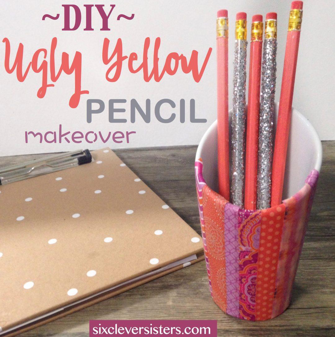 DIY Plain Pencil Makeover