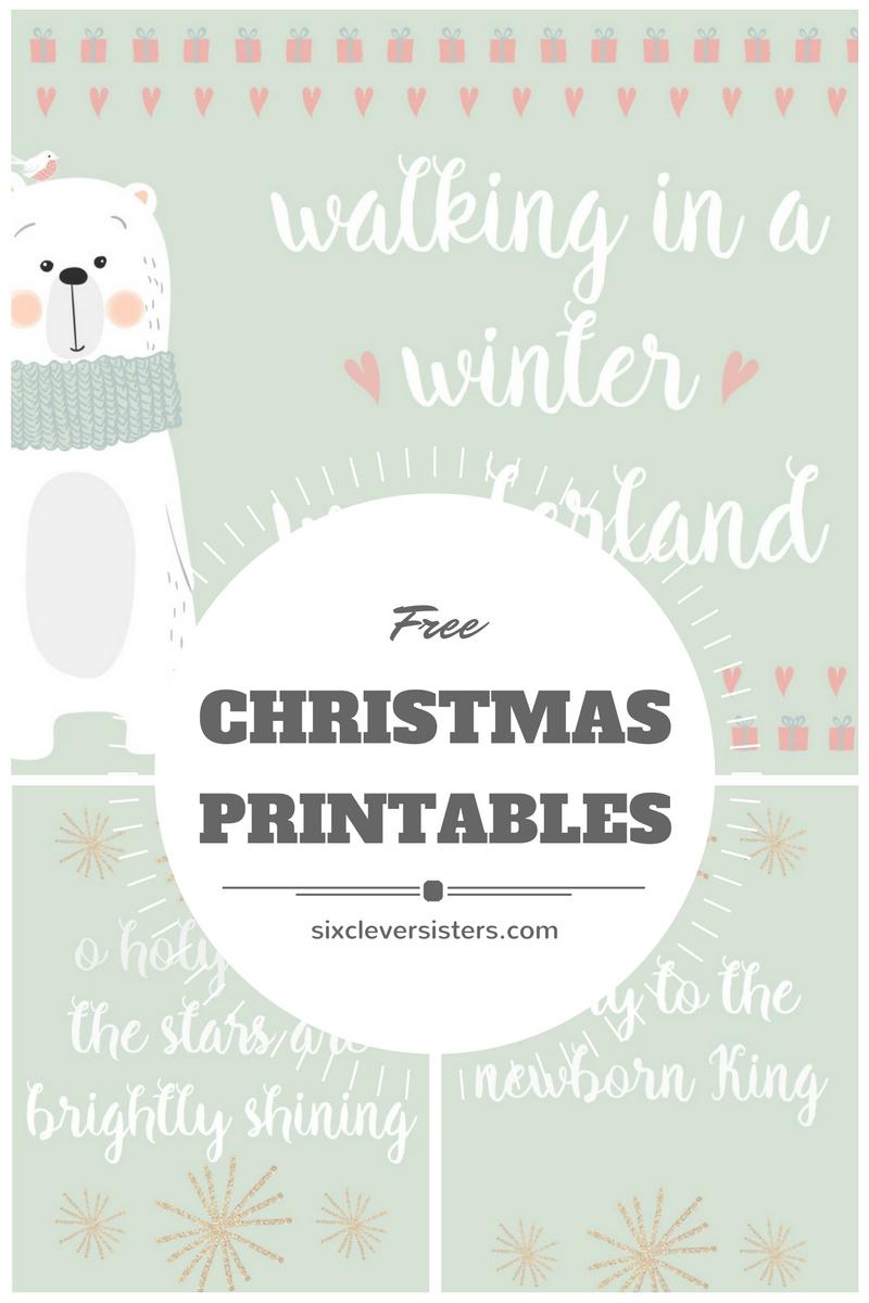 Free Christmas Printables #christmas #printables #free