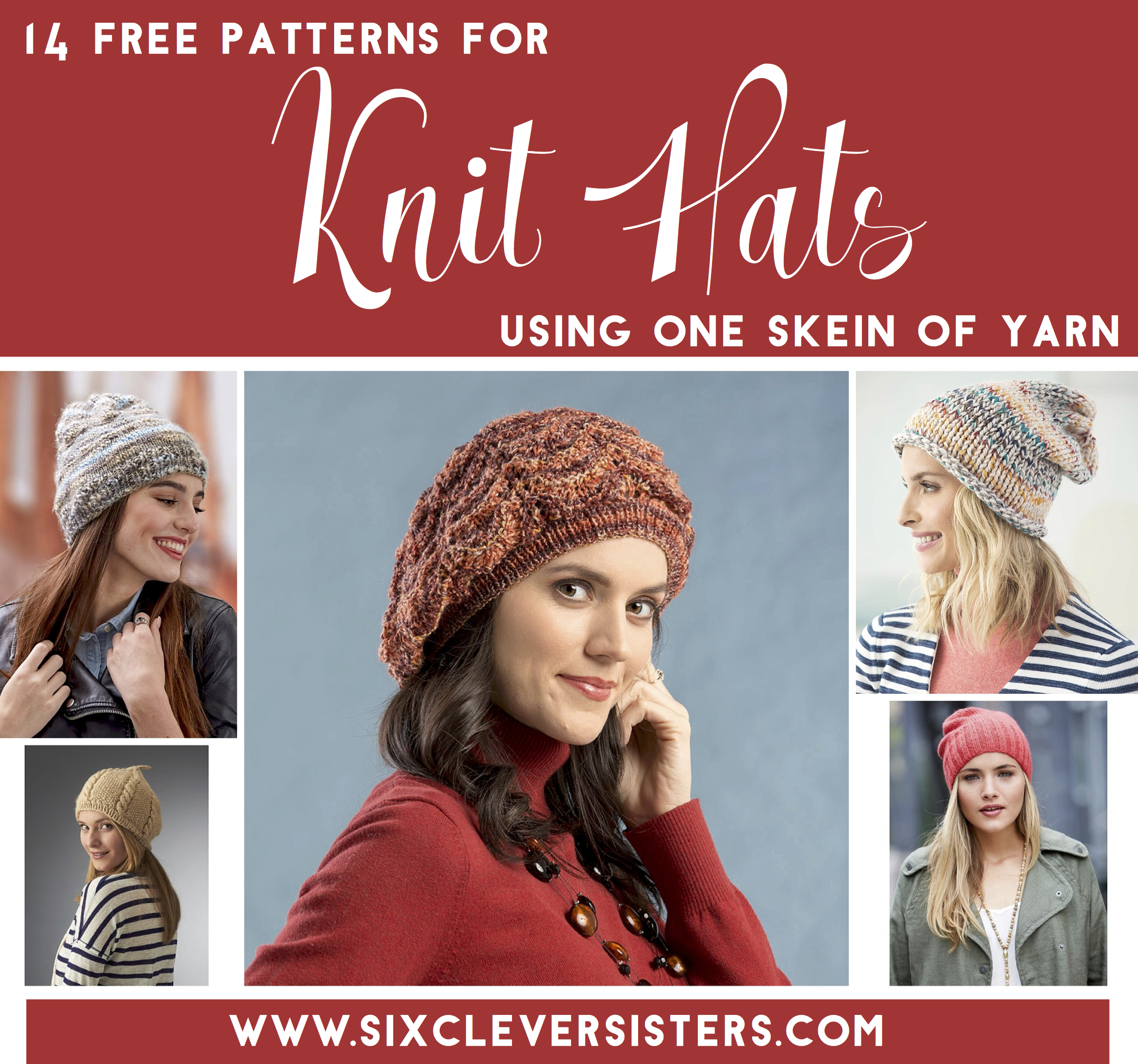 14 Free Patterns For Knit Hats Using Just One Skein Of Yarn