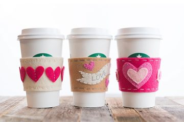 valentines day gift idea cup sleeve heart