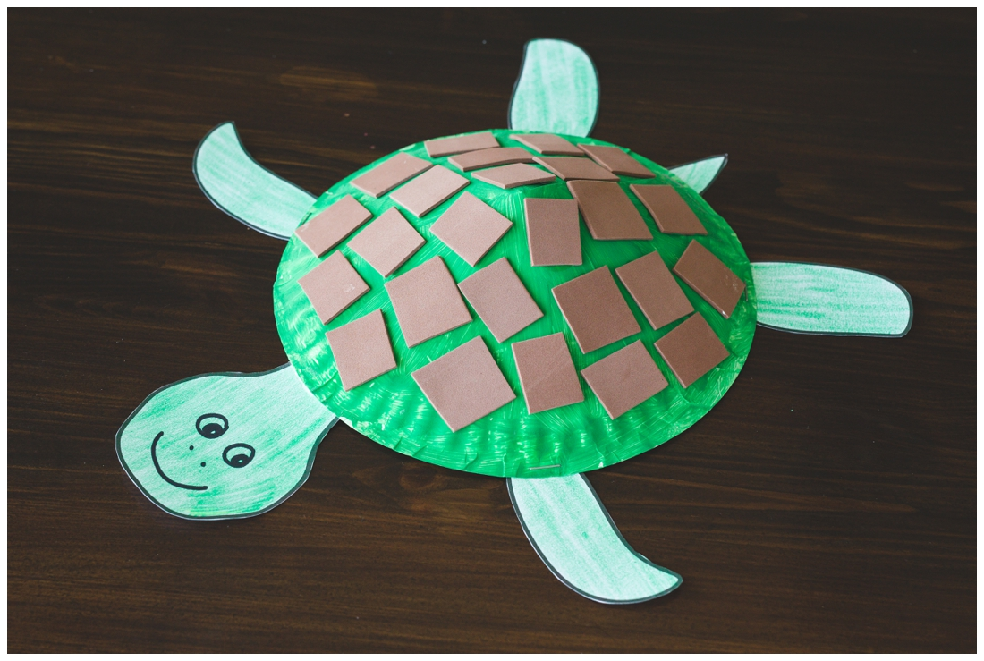 Paper plate turtle craft for kids free printable for How to make craft