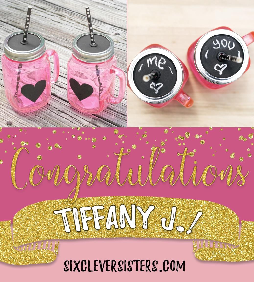Chalkboard Mason Jar Giveaway Winner Six Clever Sisters