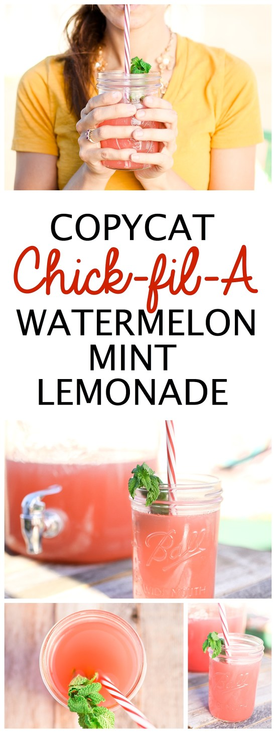 Watermelon Mint Lemonade Chick Fil A Recipe Copycat | Summer Drinks | Fourth of July | Food Ideas | Party Food | BBQ | Drink Recipes | Lemonade Recipe | Summer Fun | Things to Do | Fresh Food | Fruit Recipes | Frosted Sunrise