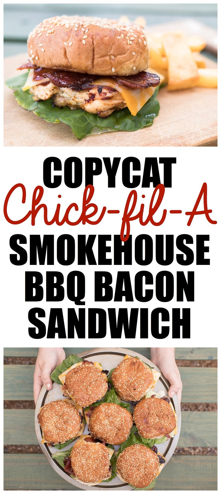 Chick Fil A Copycat Grilled Chicken Smokehouse BBQ Bacon Sandwich | Copycat Chick Fil A Chicken Recipes | Grilled Chicken Recipe | Brown Sugar Bacon | Summer Picnic Food | Labor Day Recipe | Grilled Food
