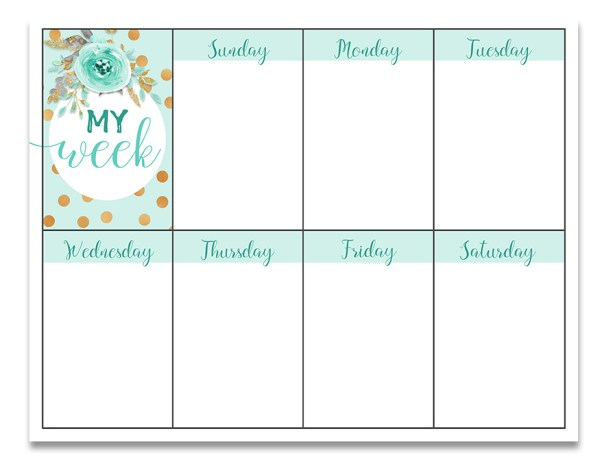 Free Weekly Planner Printable | Free Printable | Printable Weekly Planner | Planner Printable | Free Printable Planner | Download our free weekly planner printable on the Six Clever Sisters blog!