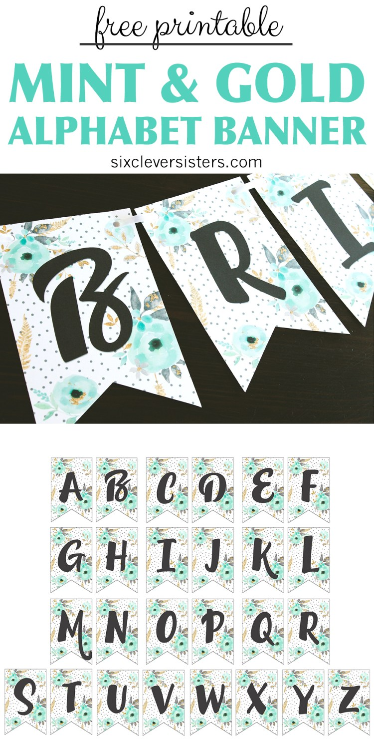 Unforgettable image in free printable banner letters pdf