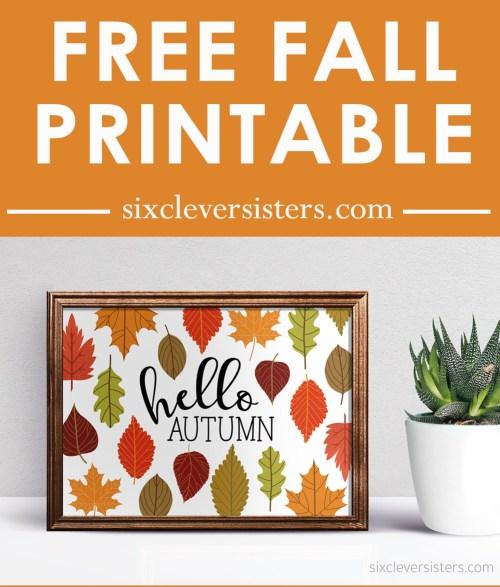 Hello Autumn Free Printable | Hello Autumn Free Printables | Printable Fall Signs |
