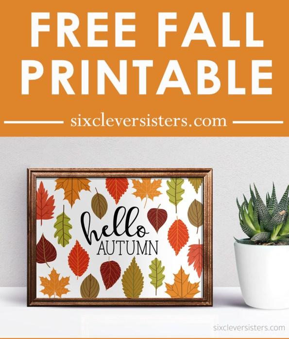 Hello Autumn Free Printable | Hello Autumn Free Printables | Printable Fall Signs | Free Printable Fall Signs | Happy Fall Printable Signs