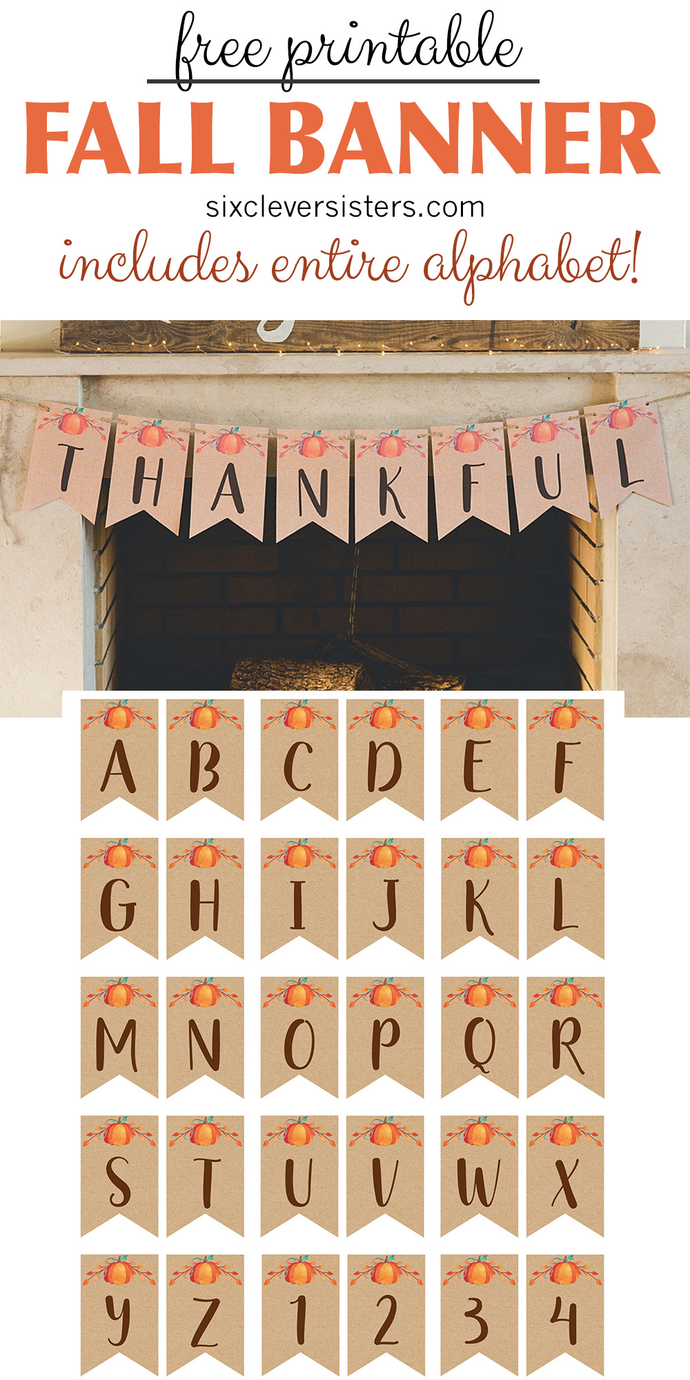 picture regarding Fall Banner Printable titled Banner_fixed_3_extensive_pin - 6 Smart Sisters