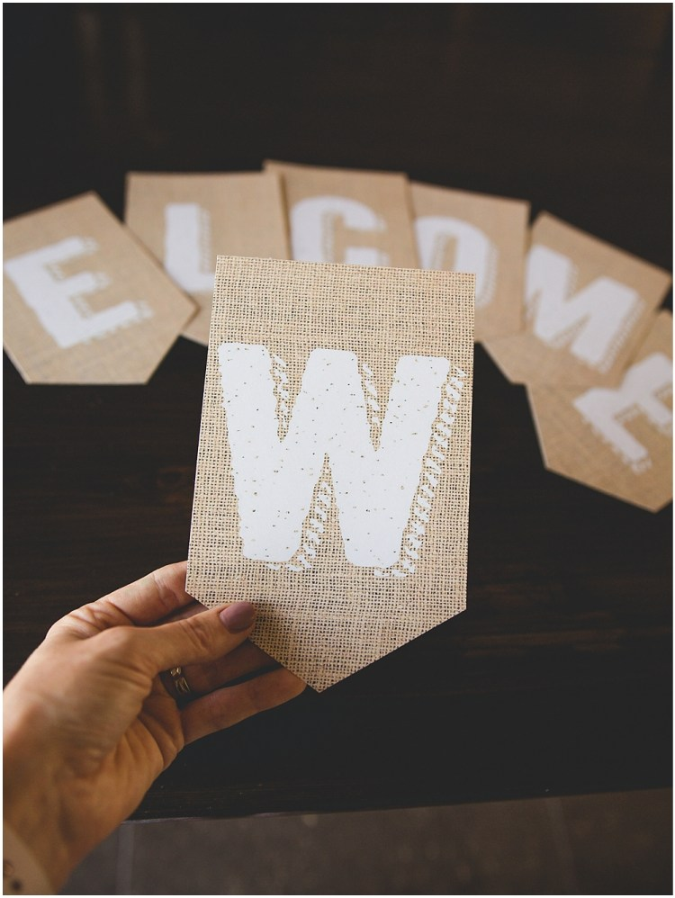 Printable Burlap Banner | Burlap Banner Printable | Printable Burlap Letters | Burlap Banner | Printable Burlap | Burlap Banner DIY | Burlap Banner Letters | Free download for this printable burlap banner is on the Six Clever Sisters blog!