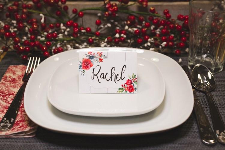 how to make christmas table name tags