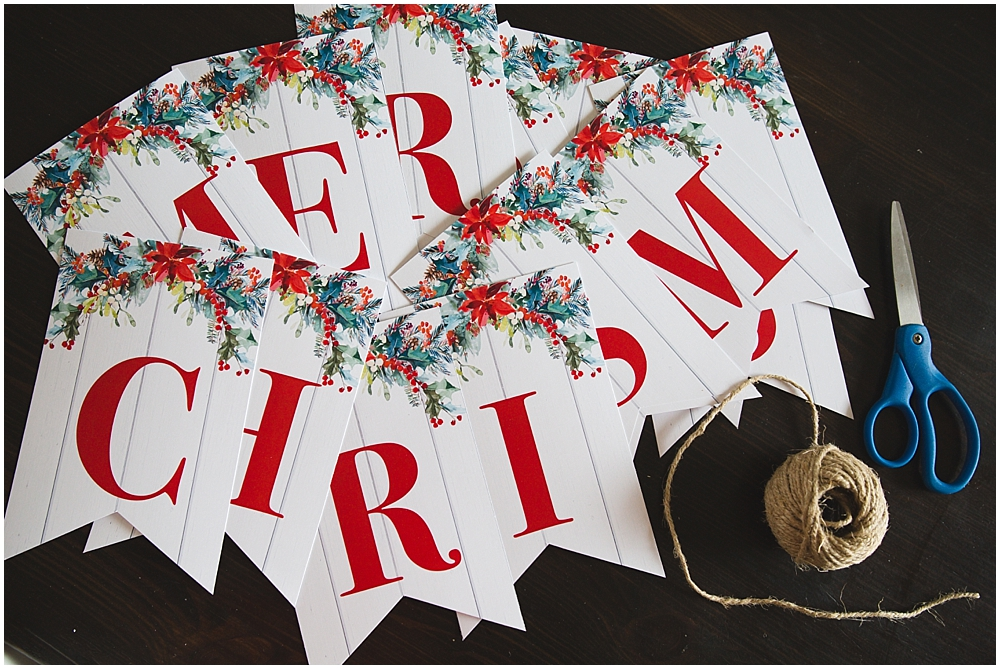 Printable Merry Christmas Banner - Six Clever Sisters