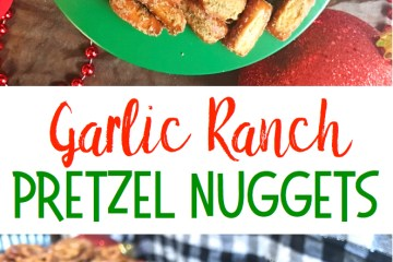 Garlic Ranch Pretzel Nuggets | Garlic Pretzels | Snack Food | Snacks for Party | Pretzel Recipes | Garlic | Salty Snacks | A yummy flavorful snack, recipe on Six Clever Sisters!