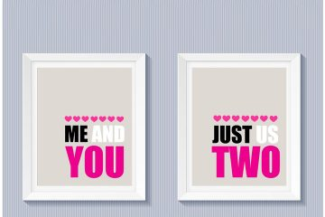 Valentine's Day Free Printable | Love Printable | Bedroom Printable | Printables for Home Decor | You and Me Just Us Two | Free Printable Wedding | Love Quotes | I Love You Printable