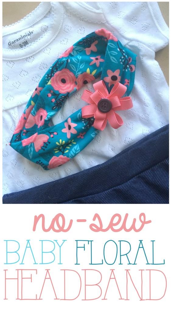 Baby Floral Headband Wrap Knit DIY | Cute Baby Headband Ideas | Newborn Headwrap | Floral Knit Headwrap | Floral Headband