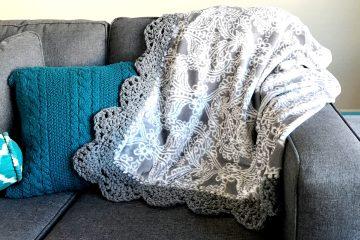 Crochet Pattern   Crochet Edge   Pattern   Scallop Edge   Free Pattern   Free Crochet Pattern   Afghan   Crochet Afghan   Crochet Throw   Crochet Patterns Free   Crochet Patterns Free Beginner   Crochet Patterns Free Blanket   Six Clever Sisters