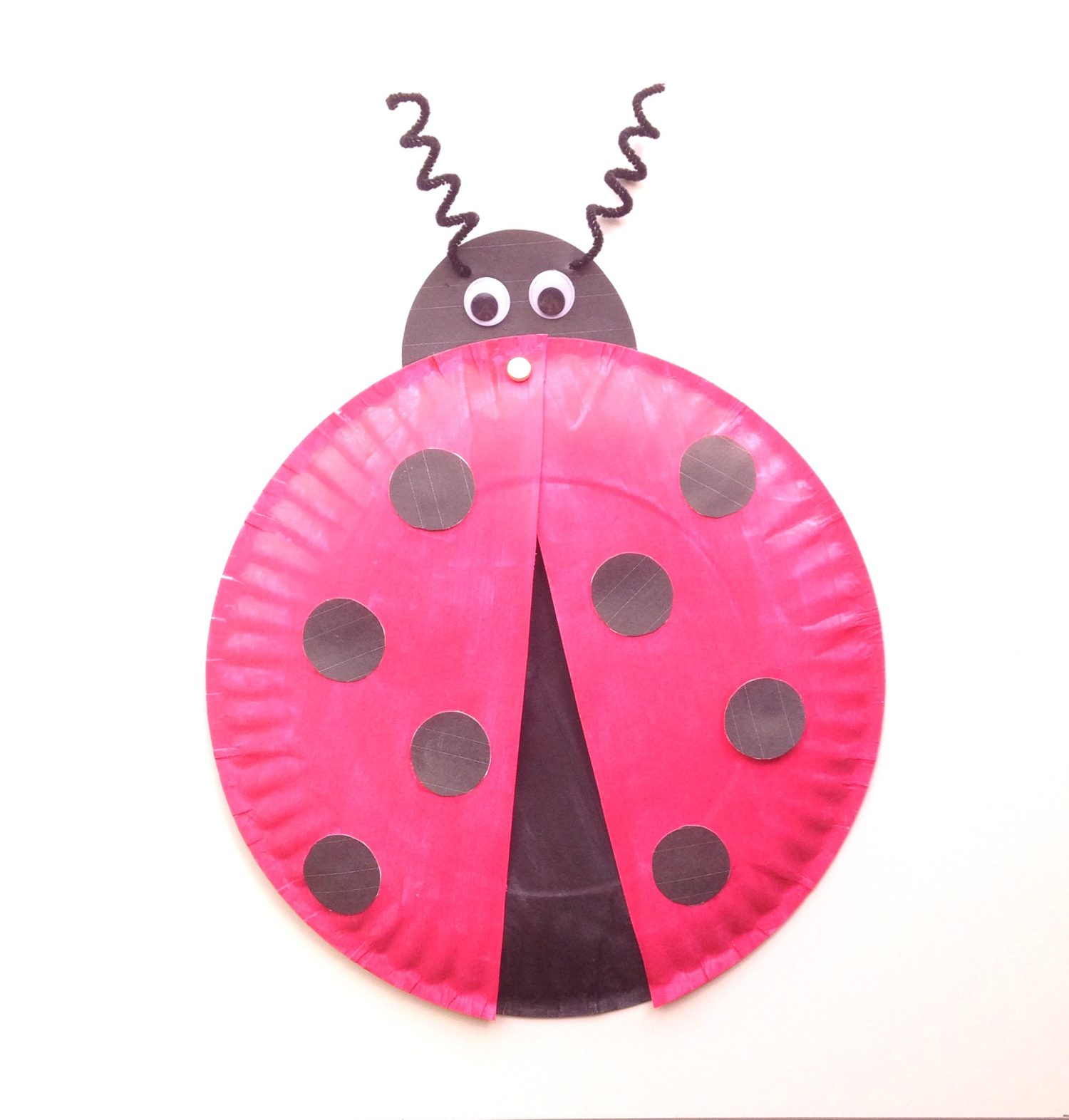 Ladybug Paper Plate Craft for Kids + Free Printable Template! - Six Clever Sisters  sc 1 st  Six Clever Sisters & Ladybug Paper Plate Craft for Kids + Free Printable Template ...