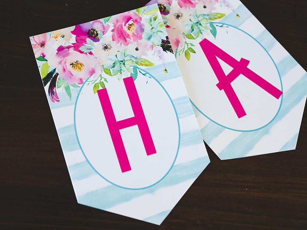 image relating to Free Printable Birthday Banner titled Cost-free Printable Birthday Banner - 6 Wise Sisters
