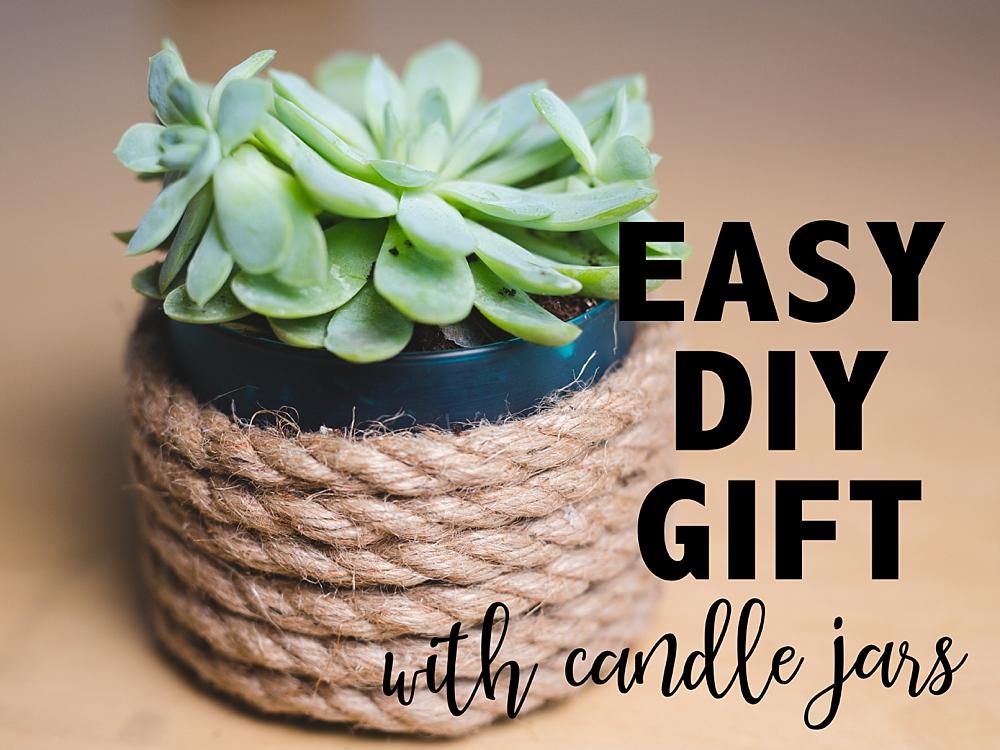 Reuse Candle Jars Succulent Planter Six Clever Sisters